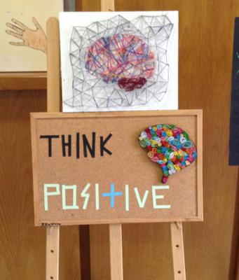 Brain artwork at 4th Public Junior High School of Pyrgos Ilias, Greece