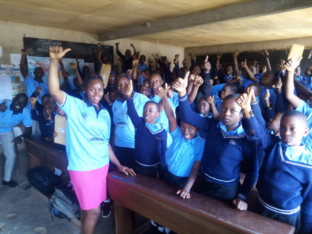 Glorious and joyous primary school closing BAW activities organized by the Cameroon Association for Neuroscience (CAMANE) in Cameroon.