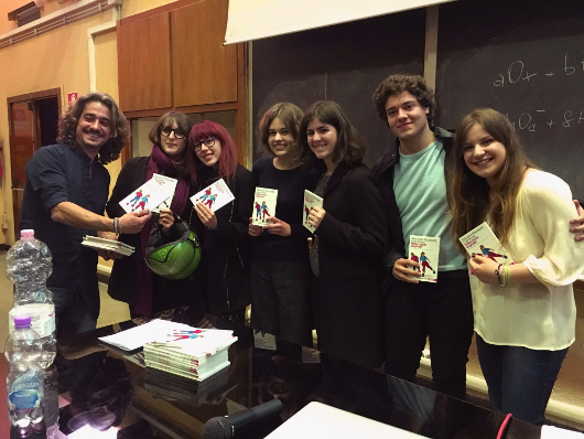 Students participate in an event organized by Associazione Adamas Scienza in Italy