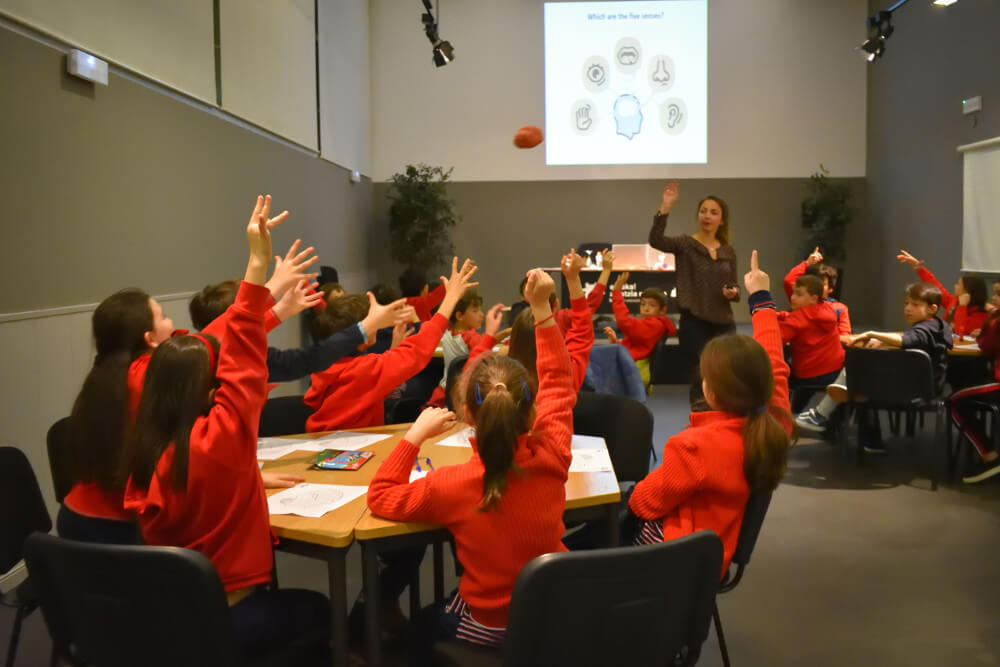 Children participate in an event organized by Basque Center on Cognition in Spain.