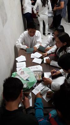 A brain activity during an event organized by Benemérita Universidad Autónoma de Puebla in Mexico