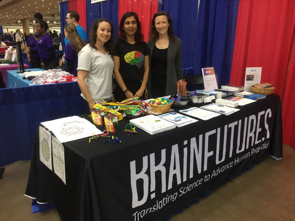 BrainFutures and Brain Connect staff at the B'More Healthy Expo organized by BrainFutures in Maryland.