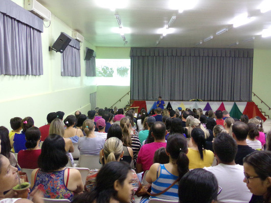 The audience at a talk organized by the Brazilian Society of Neurosciences and Behavior SBNeC in Brazil