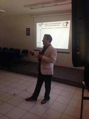 A presentation organized by Centro de Investigaciones Cerebrales, Universidad Veracruzana in Mexico