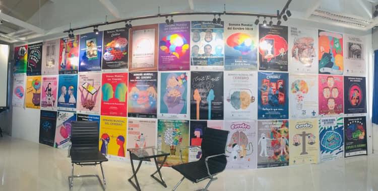 An art exhibit as part of an event organized by Centro de Investigaciones CerebralesFacultad_de, Ciencias Administrativas y Sociales, Universidad Veracruzana