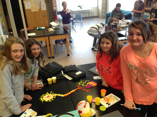 Vassalboro Community School - Playdoh Activity hosted by Colby College students in Maine