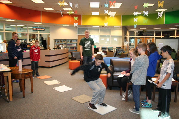Students jump for their brain at an event organized by Colorado State University