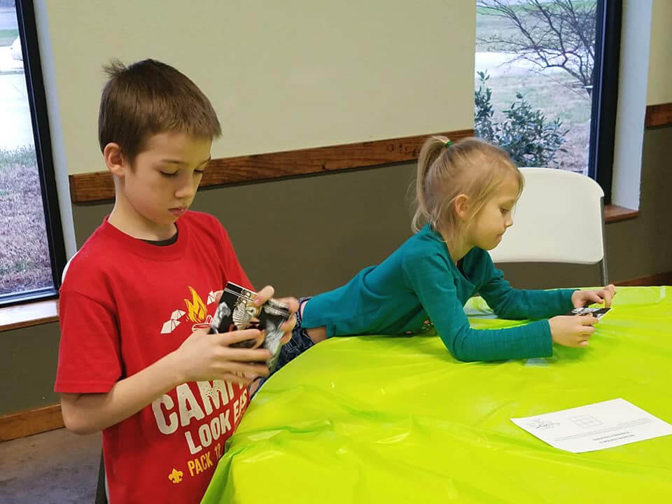 A brain activity at an event organized by Cub Scout Pack 12 in Reno, Nevada.