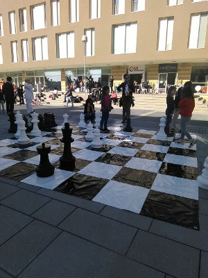 Giant chess during