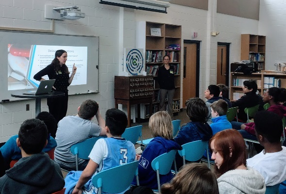 Middle school students learn about the brain at an event organized by Duke School of Medicine in North Carolina
