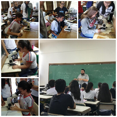 Classroom activity organized by E.E. Alvaro Fraga Moreira and E. E José Nicolau Pirágine in Brazil.