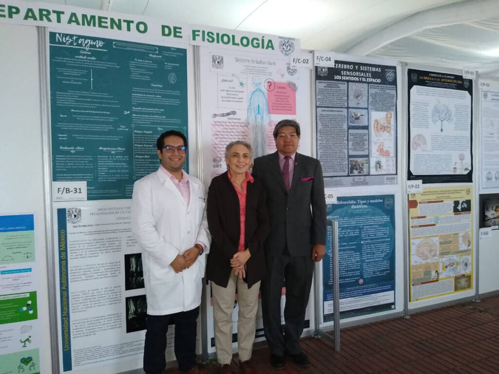 Some of the organizers of a poster session from the Facultad de Medicina UNAM in Mexico City.