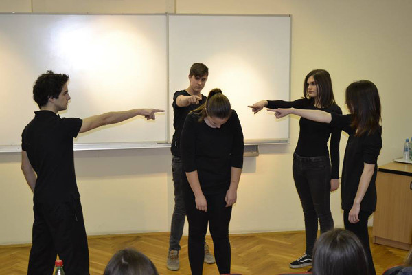 Social performance during BAW organized by Faculty of Medicine Osijek in Croatia
