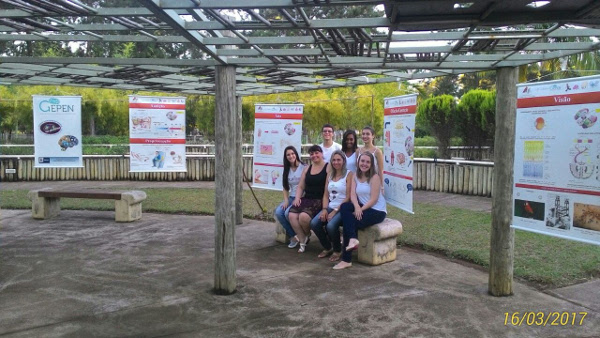 An outdoor presentation organized by Federal University of Juiz de Fora in Brazil