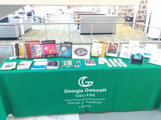 An information table/brain display organized by Georgia Gwinnett College in Georgia
