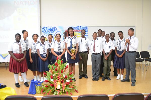 Participants in the Grenada Brain Bee Challenge in Grenada