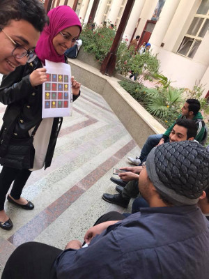 Interactive activity during a #BrainWeek event organized by the Faculty of Medicine, Helwan University in Cairo, Egypt