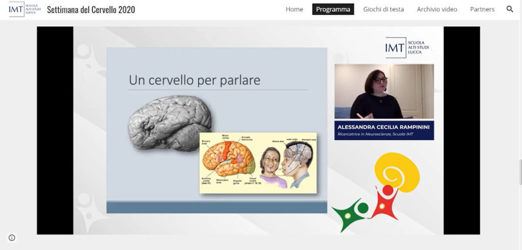 "Discussing ""Words and mind: how language makes us human"" during an online event organized by IMT School for Advanced Studies Lucca, Italy"