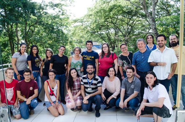 Participants at an event organized by Instituto de Neurociencias e Comportamento in Ribeirao Preto, Brazil