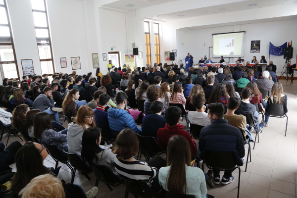 Audience at an event held by the Italian Police Association, Italy