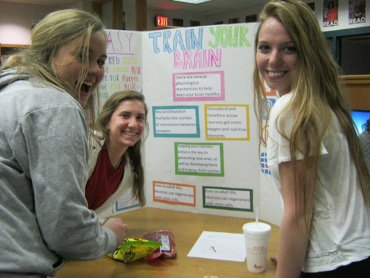 Brain Awareness Week Lunch in the Library at James River High School in Virginia
