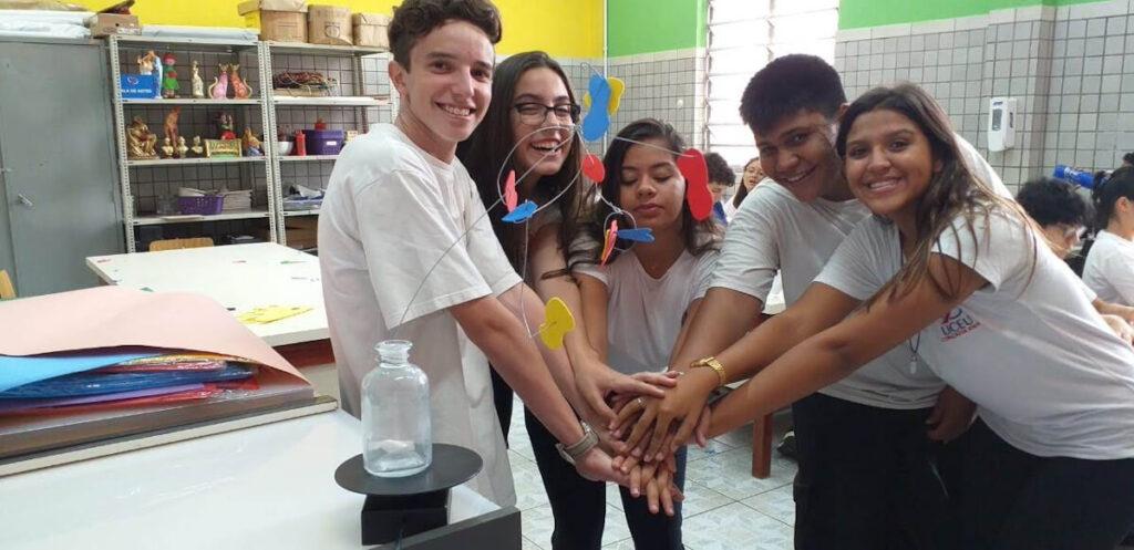 An arts activity for students organized by Liceu Coração de Jesus Salesiano in Sao Paulo, Brazil.