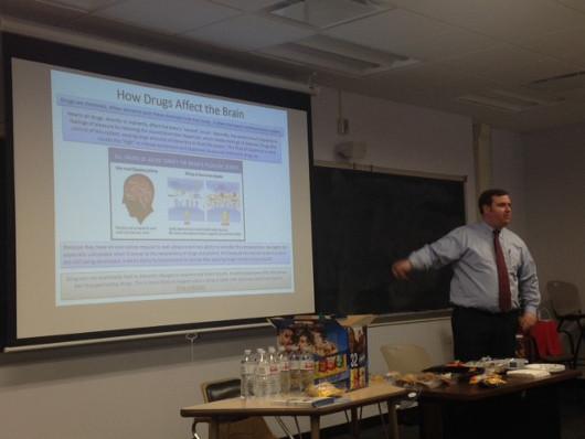 A presentation on opiates and the brain organized by Miami University Hamilton Campus