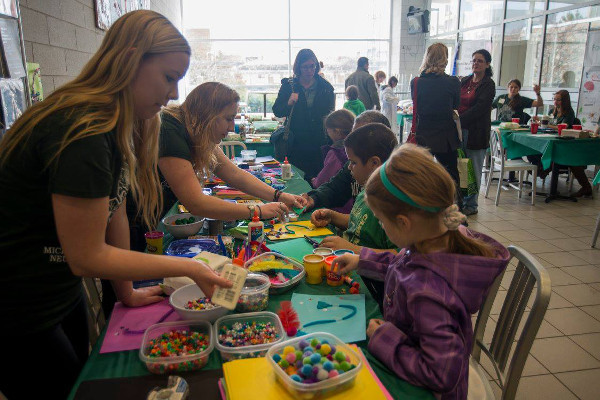 Arts and crafts at a Neuroscience Fair organized by Michigan State University