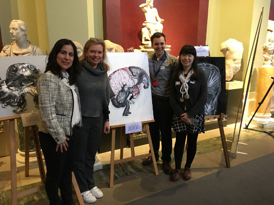 Art and neuroscientists work together during an event organized by Nuffield Department of Clinical Neurosciences - University of Oxford in the United Kingdom