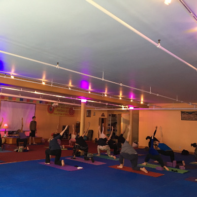 Yoga practice organized by the NYU Society for Undergraduate Neural Science