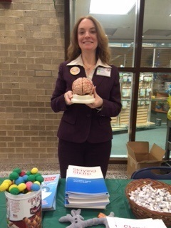 A brain info table at an event organized by Nassau University Medical Center in New York