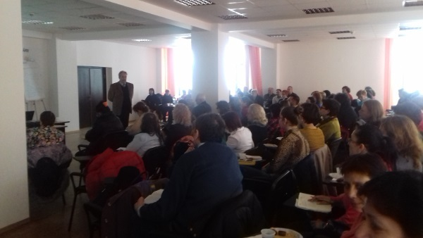 A lecture organized by National College Nicolae Balcescu in Romania