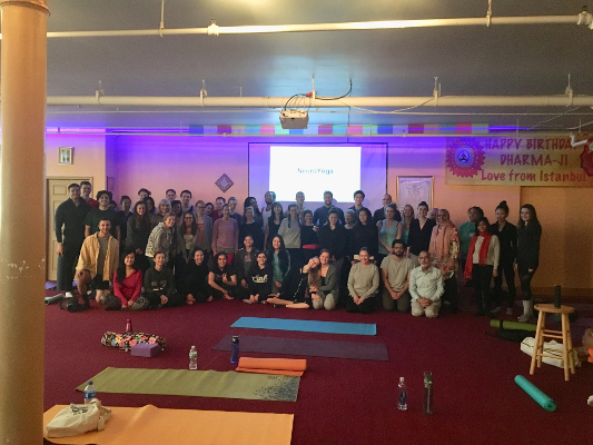 After a Yoga session organized by the Neuroscience Outreach Group at NYU in New York