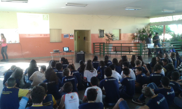 Students attend a lecture organized by Postgraduate Program in Psychobiology, Faculty of Philosophy, Sciences and Literature of Ribeirão Preto University of São Paulo (FFCLRPUSP) in Brazil