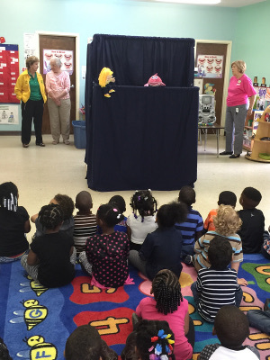 Puppet performance by the Pilot Club of Cochran for a Head Start class in Georgia, USA