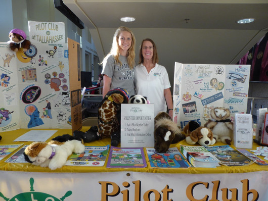 An information table at the 31st Annual Alzheimer's Education Conference organized by Pilot Club of Tallahassee, Colorado