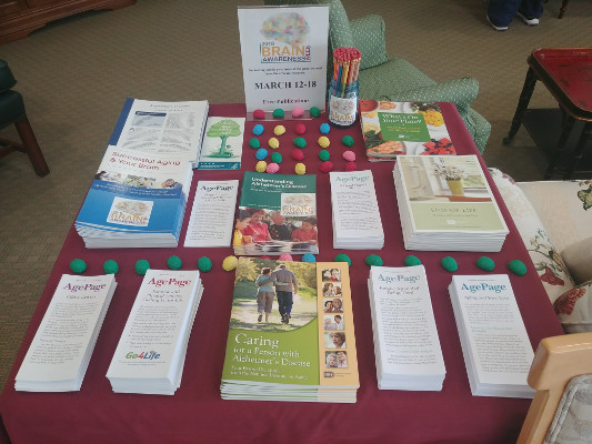 Materials for the public distributed by the Pomperaug Woods Retirement Community in Connecticut