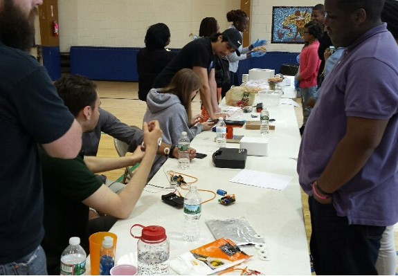 Students participate in brain activities at an event organized by Project Brain Light, Delaware