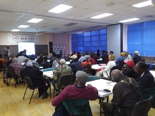 Seniors learn about successful aging and the brain at a discussion organized by Quality Living Services-Danforth in Georgia
