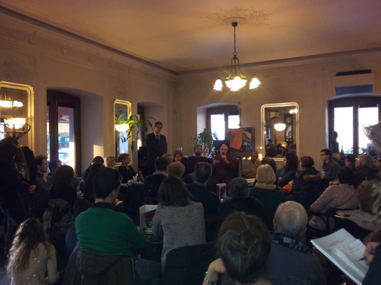 Brain Awareness Week in a cafe hosted by SISSA, University of Trieste in Italy
