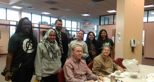 Participants at an group outreach event at the Alzheimer's Disease Foundation of Long Island organized by SUNY Old Westbury