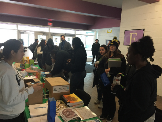 Info table at an event organized by SUNY Old Westbury in New York