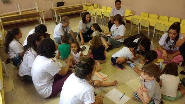 A school program organized by Santa Casa de São Paulo School of Medical Sciences in Brazil