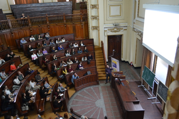 A Friday conference organized by the Scientific Organisation of Medical Students in Bucharest, Romania