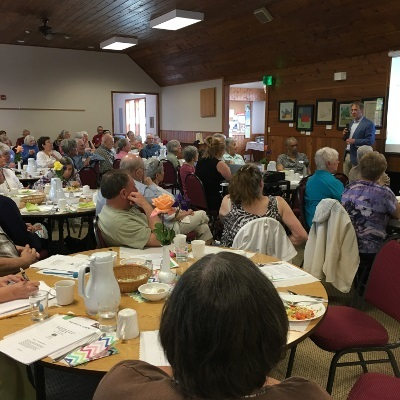 Brain wellness activities at a local senior center organized by Smyrna United Church of Christ in Oregon