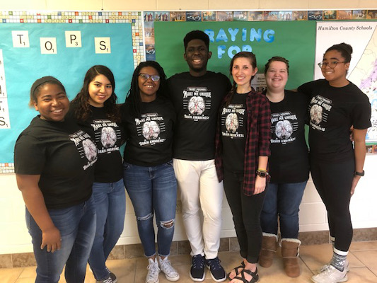 Psi Chi BAW presenters at a school visit organized by Southern Adventist University in Tennessee