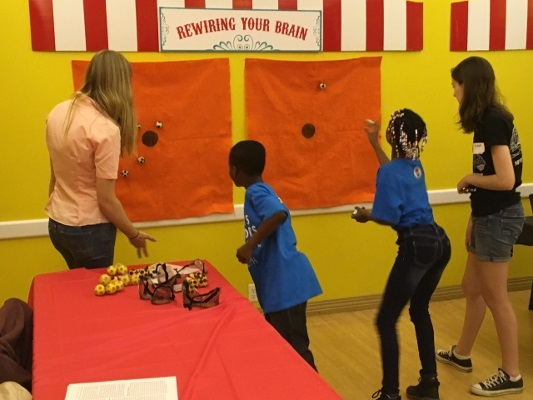 Rewiring Your Brain game at the Amazing Brain Carnival organized by the St. Louis Chapter of the Society for Neuroscience in Missouri