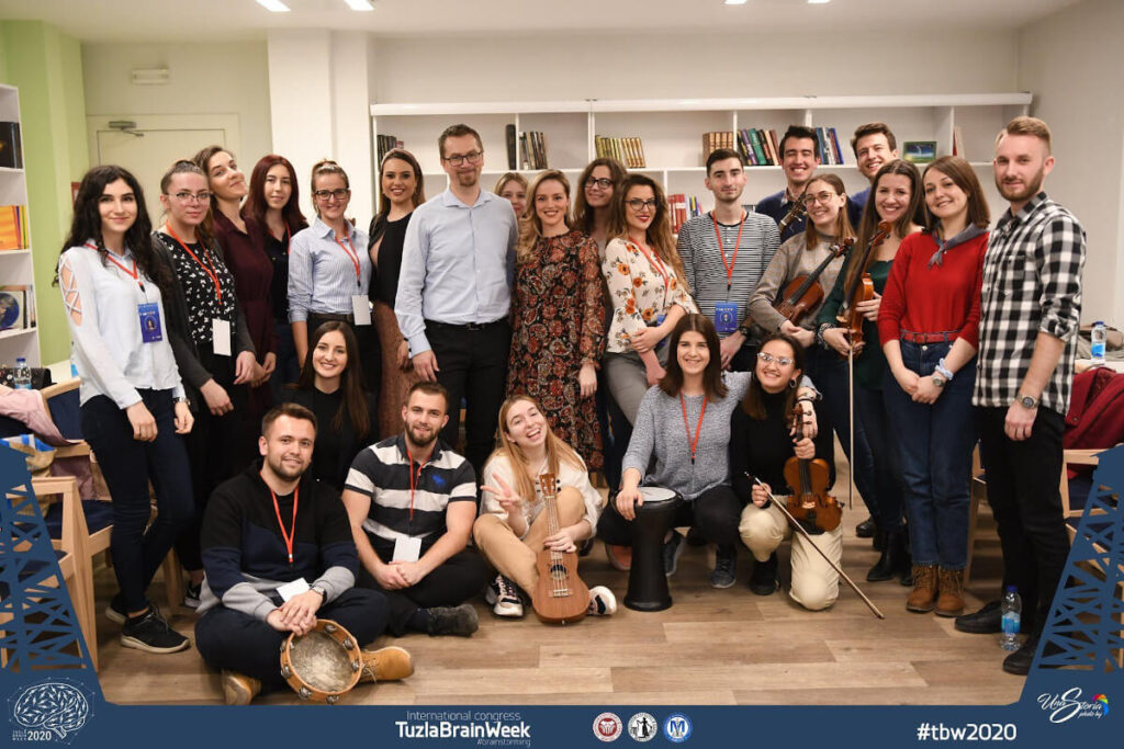 """Professional Workshop: The Effects of Music Therapy on Anxiety and Depression,"" organized by the Student Council ""MEDICUS"" Medical Faculty Tuzla, in Bosnia and Herzegovina."