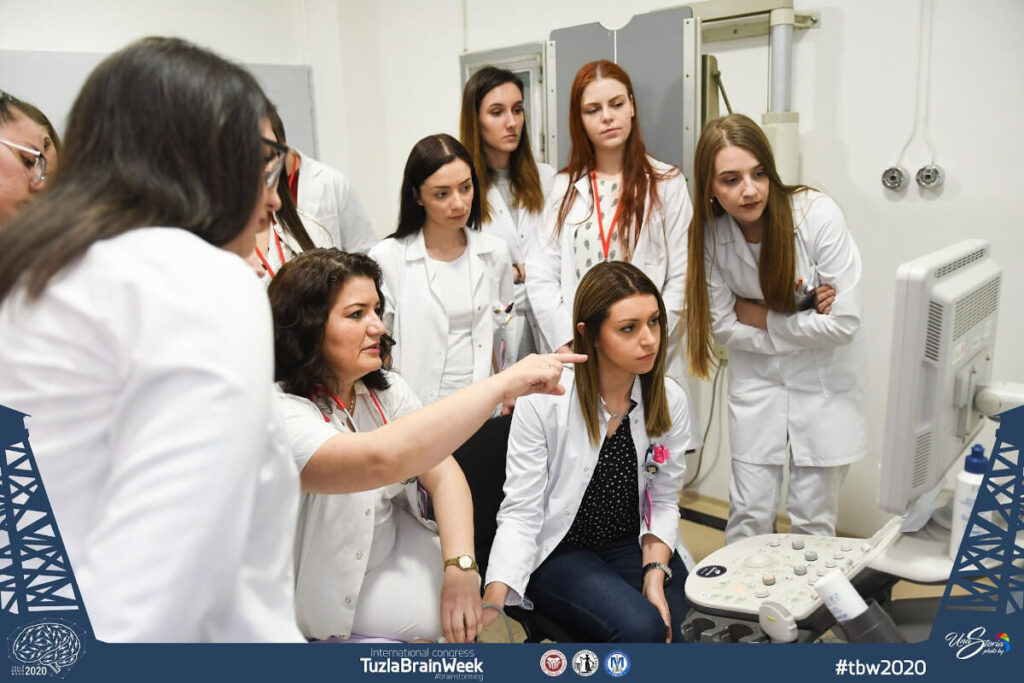 """Professional Workshop: Neonatal Cranila Ultrasound- Standard Views"" organized by the Student Council ""MEDICUS"" Medical Faculty Tuzla, in Bosnia and Herzegovina."