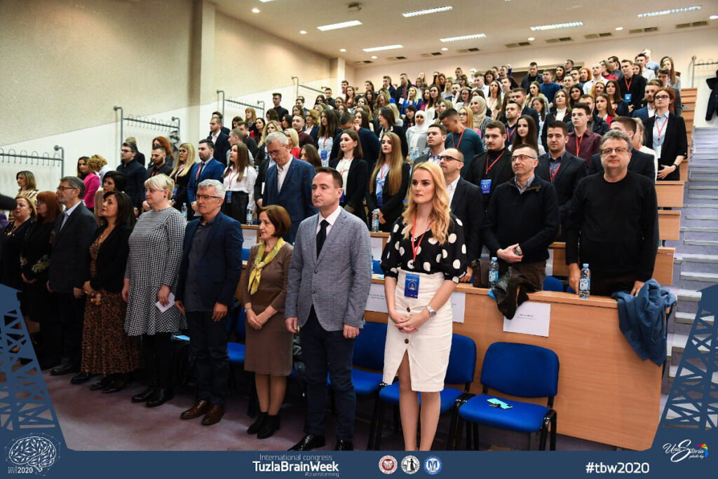 "The Opening Ceremony of Tuzla Brain Week 2020 organized by the Student Council ""MEDICUS"" Medical Faculty Tuzla, in Bosnia and Herzegovina."